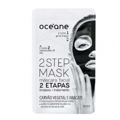 Oceane - Máscara facial 2 etapas - Carvão 13g 1